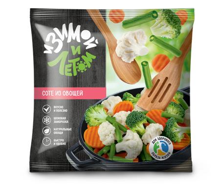 Замороженное соте из овощей