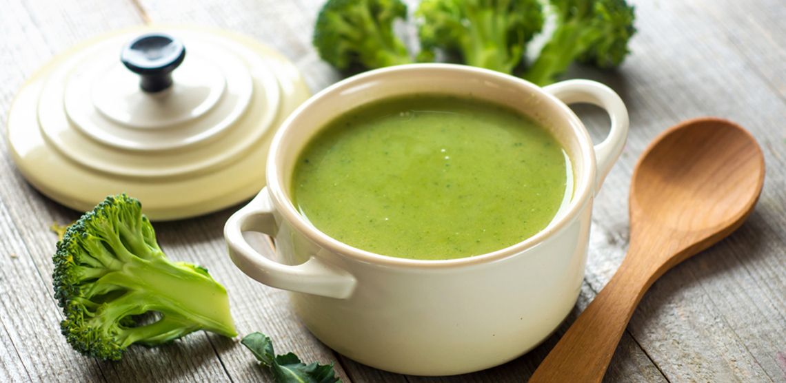 Суп-пюре из брокколи для детей